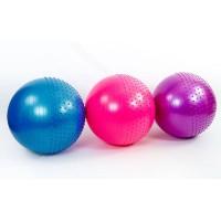 Мяч (фитбол) для фитнеса полумассажный 2 в 1 OSPORT 65см (FI-4437-65)