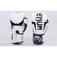 Перчатки боксерские PU на липучке VENUM 8-12 унций (BO-5698-W)