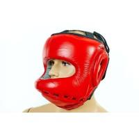 Шлем боксерский (с бампером) кожа AIBO VELO VL-8128