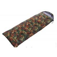 Спальный мешок одеяло с капюшоном кокон камуфляж Zelart (SY-4051)
