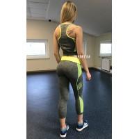 Комплект (костюм) для фитнеса 44-48 (топ, лосины) Zel (ST-2098-G)