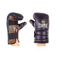 Снарядные перчатки для единоборств с открытым большим пальцем кожаные Zel (MA-6011)