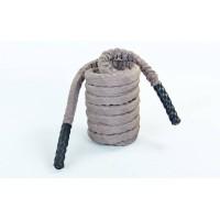 Канат для кроссфита из полипропилена в защитном рукаве 38 мм 9м Zel BATTLE ROPE (FI-5719-9)