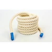 Канат для кроссфита из хлопка 40мм 12м UR COMBAT BATTLE ROPE (R-6227-12)