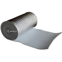 Газовспененный полиэтилен с металлезированной пленкой 8мм. (НПЭ+Лавсан)