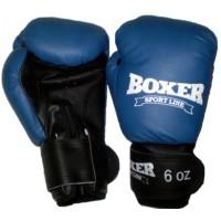 Детские боксерские перчатки Boxer Элит 6 унций, кожвинил