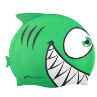 Шапочка для купания детская Spokey Rekinek, зеленая