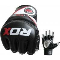 Перчатки ММА RDX Rex Leather Black