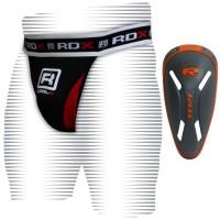 Защита паха с профессиональной ракушкой MMA RDX Carbon