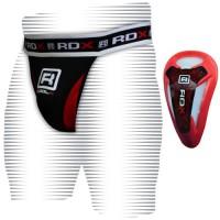 Защита паха с профессиональной ракушкой MMA RDX Red
