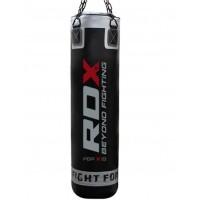 Боксерский мешок RDX Leather Black 1.4 м, 45-55 кг