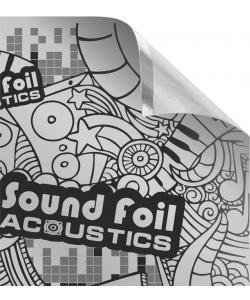 Фольгированный лист (фольга) с липким слоем Acoustics 700х500мм 200 микрон (SoundFoil), , SoundFoil, Acoustics, Аксессуары для автомобиля