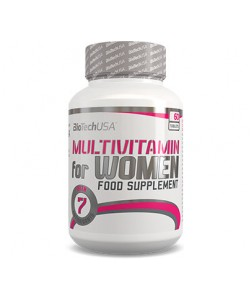 Комплекс витаминов и микроэлементов для спортсменов женщин Multivitamin For Women 60 таб Biotech USA 00519-01, , 00519-01, Biotech USA, Спортивное питание