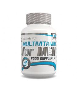 Комплекс витаминов и микроэлементов для спортсменов мужчин Multivitamin For Men 60 таб Biotech USA (01111-01), , 01111-01, Biotech USA, Спортивное питание
