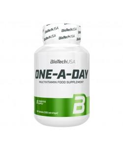 Комплекс витаминов и микроэлементов для спортсменов Multivitamin One A Day 100 таблет. Biotech USA (01112-01), , 01112-01, Biotech USA, Спортивное питание