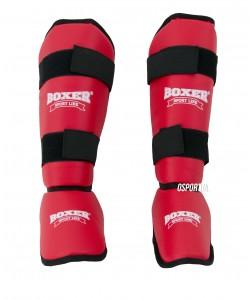 Защита голени и стопы из кожзама Элит Boxer XL (bx-0048), , bx-0048, Boxer, Защитная экипировка