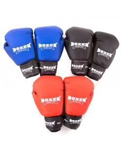 Перчатки боксерские из кожвинила Boxer 10 унций (bx-0036), , bx-0036, Boxer, Боксерские перчатки