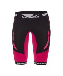 Компрессионные шорты женские Bad Boy Compression Shorts Black/Pink, 13950, 230010, Bad Boy, Лосины и бриджи