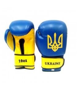 Перчатки боксерские Tryzub Ukraine Blue, 12828, TR-1, Tryzub, Тренировочные перчатки