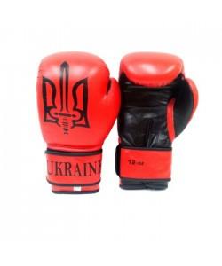 Перчатки боксерские Tryzub Ukraine Red, 12829, TR-2, Tryzub, Тренировочные перчатки