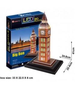 Трехмерная головоломка конструктор БИГ БЕН LED CubicFun (L501h)