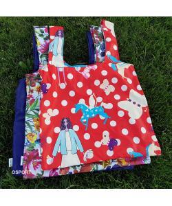 Эко сумка (экосумка шоппер, пляжная) для покупок, продуктов Faina Torba тканевая с принтом (ft-0002), , ft-0002, Faina Torba, Экосумки
