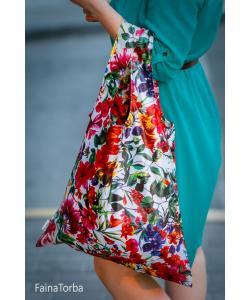 Эко сумка (экосумка шоппер, пляжная) для покупок, продуктов Faina Torba тканевая с принтом (ft-0002), 20109, ft-0002, Faina Torba, Экосумки