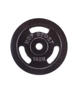 Диск чугунный Hop-Sport Strong 10 кг, 13321, HS-D8, Hop-Sport, Блины и диски