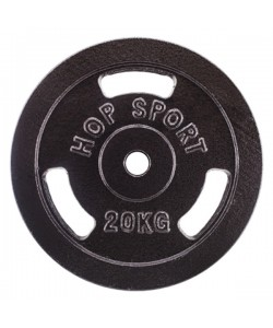 Диск чугунный Hop-Sport Strong 20 кг, 13323, HS-D10, Hop-Sport, Блины и диски