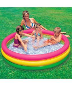 Детский надувной бассейн 33л 61х22 см Intex (57107), , 57107, Intex, Матрасы надувные, пляжные