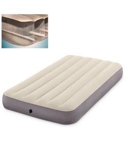Матрас-кровать надувной пляжный для отдыха и дома 191х99см Intex (64101), , 64101, Intex, Самонадувающиеся коврики
