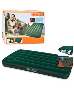 Надувной матрас-кровать для дома и природы (пляжный) с насосом 191х99см Intex (66927), , 66927, Intex, Самонадувающиеся коврики