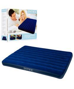 Матрас-кровать надувной пляжный для отдыха и дома 152х203см Intex (68759), , 68759, Intex, Матрасы надувные, пляжные