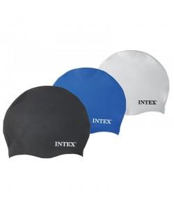 Силиконовая шапочка для плавания и бассейна универсальная Intex (55991), 30313, 55991, Intex, Шапочки для плавания