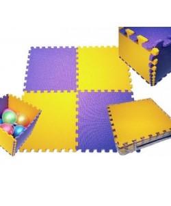 Детский игровой коврик пазл (мат татами, ласточкин хвост), размер 200x150 см