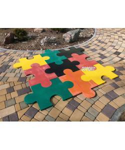 Резиновое напольное модульное покрытие для детских игровых площадок OSPORT (FI-0136-1), 20027, FI-0136-1, OSPORT, Уличные турники и комплексы