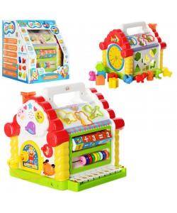 Игра Теремок (домик) музыкальный со вставными фигурками и светоигрой Limo Toy (JT 9196), , JT 9196, LIMO TOY, Детские игрушки