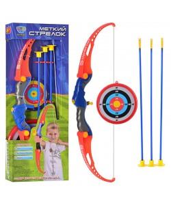 Игрушка лук со стрелами на присосках и мишенью Limo Toy (M 0037), , M 0037, LIMO TOY, Детские игрушки