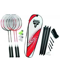 Бадминтон Talbot Torro Badminton Set 4 Attacker Plus 449515, , 449515, Talbot Torro, Бадминтон, спидминтон