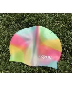 Силиконовая шапочка для плавания универсальная Loyol Радуга (CM303), , CM303, Loyol, Шапочки для плавания