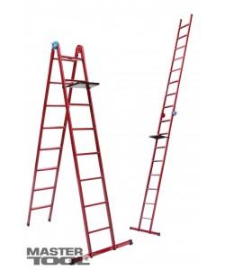 Лестница универсальная Mastertool 79-1016, 6 ступеней со столиком, , 79-1016, Mastertool, Лестницы и стремянки