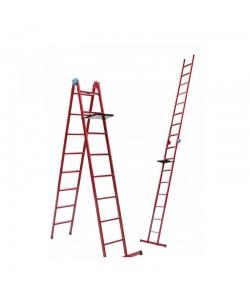 Лестница универсальная Mastertool 79-1018, 8 ступеней со столиком, , 79-1018, Mastertool, Лестницы и стремянки