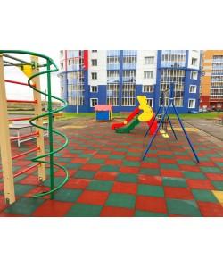 Резиновое спортивное (напольное) покрытие для детских площадок, спортзала 25мм OSPORT (П25), , П25, OSPORT, Резиновое спортивное покрытие