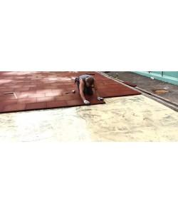 Резиновое спортивное (напольное) покрытие для детских площадок, спортзала 40мм OSPORT (П40), , П40, OSPORT, Резиновое спортивное покрытие