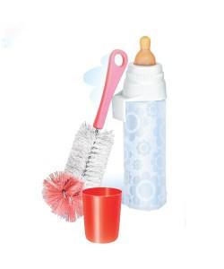 Бутылочка детская для кормления новорожденных младенцев НЯМА 250 мл + ершик для мытья Мирта (496), 20309, 496, Mirta, Бутылочки для кормления