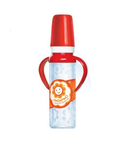 Бутылочка детская для кормления новорожденных с ручками с латексной соской НЯМА 250 мл Мирта (6662), 20314, 6662, Mirta, Бутылочки для кормления