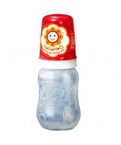 Бутылочка для кормления новорожденных с ручками и латексной анатомической соской НЯМА 125 мл Мирта (7755), 20306, 7755, Mirta, Бутылочки для кормления