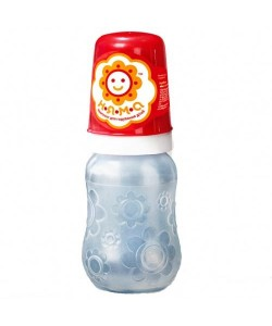 Бутылочка детская для кормления новорожденных младенцев с ручками и латексной соской НЯМА 125 мл Мирта (8753), 20303, 8753, Mirta, Бутылочки для кормления