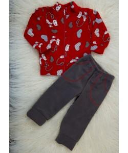 Детский костюм (штаны и кофта на молнии) из флиса для девочек (мальчиков) OBABY (358-501), 19506, 358-501, OBABY, Товары для новорожденных