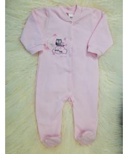 Детский бодик комбинезон (человечек) из байки для девочек (мальчиков) OBABY (371-121-2), 19498, 370-121-2, OBABY, Товары для новорожденных
